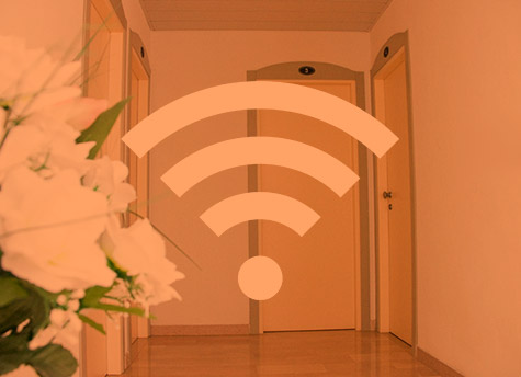 Wi-fi free<br>throughout the Hotel